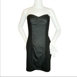 Sugarlips NWT Strapless Faux Leather Dress- Small